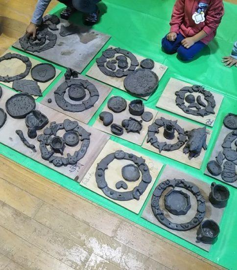 五明幼稚園 親子で陶芸体験